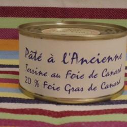 Pâté à l'Ancienne avec 25% de foie gras de canard