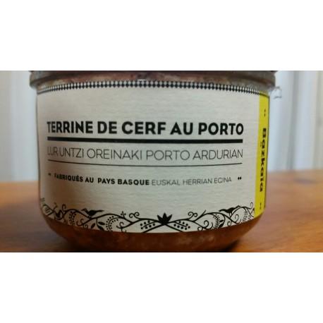 terrine de Cerf aromatisée au Porto (Gamme Bazkaïa)