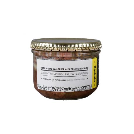 La Terrine de Sanglier aux fruits rouges ( framboise + airelles) Charte Bazkaïa