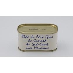 Bloc de foie gras de canard avec morceaux 30%