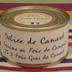 Délice de Canard 25% de foie gras de canard