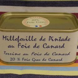 Millefeuille de Pintade au Foie gras de Canard 20%